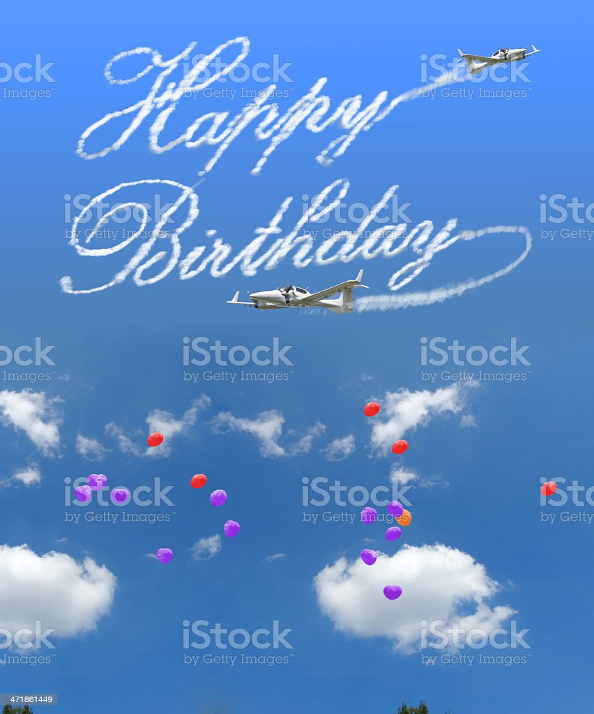 Happy Birthday cloud royalty-free stock photo