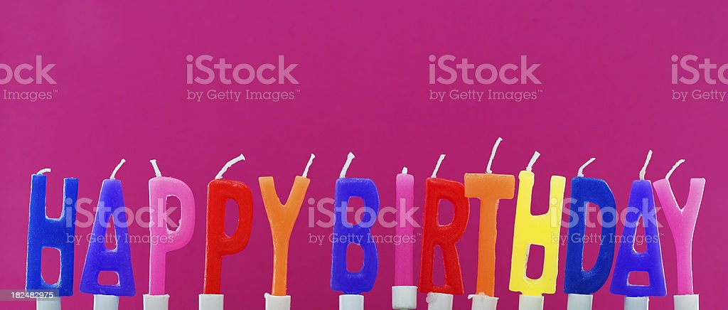 Happy Birthday Colorful Candles, Studio Isolated royalty-free stock photo