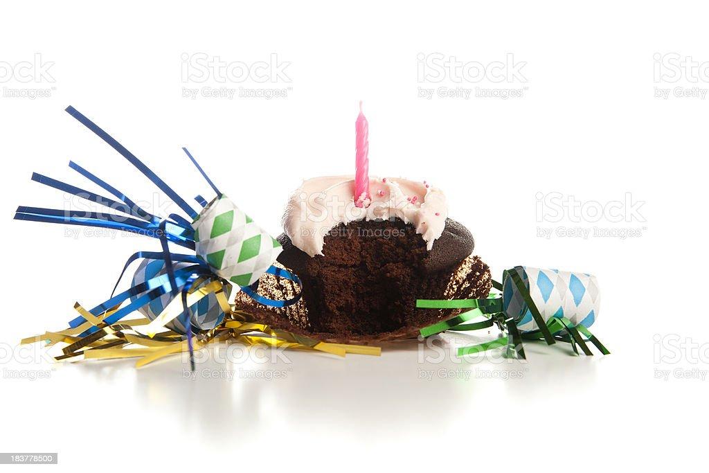 Happy Birthday Cupcake royalty-free stock photo