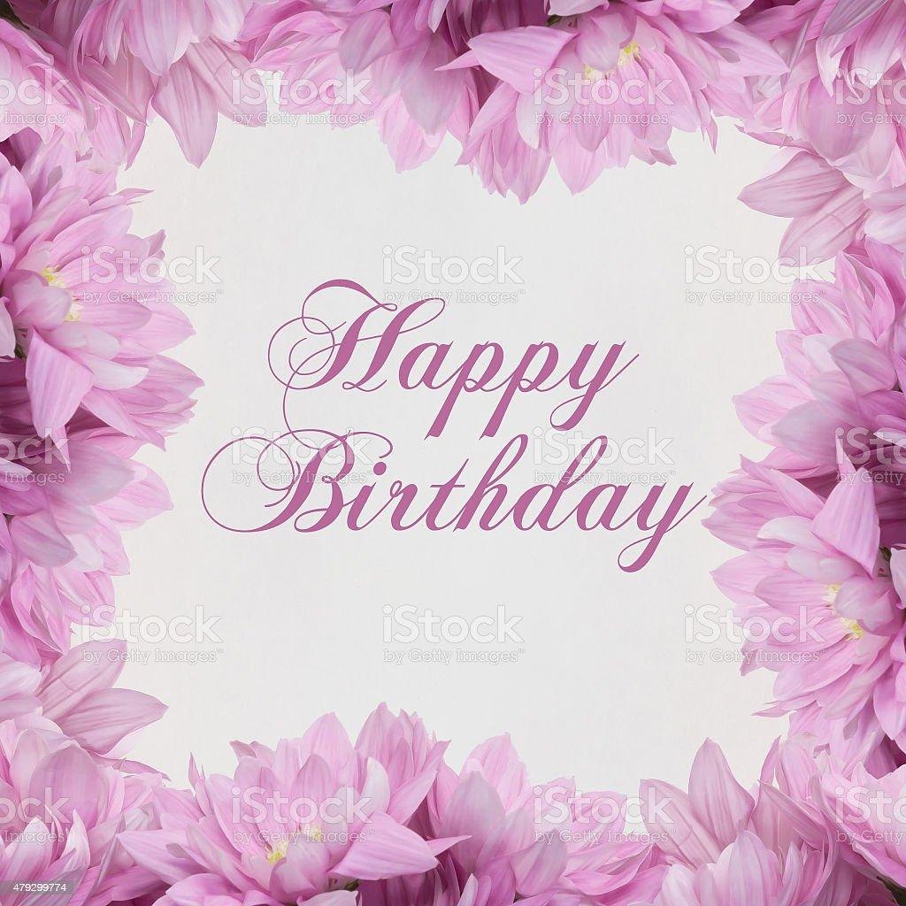 Happy birthday flower decoration on white background stock photo happy birthday flower decoration on white background royalty free stock photo dhlflorist Gallery