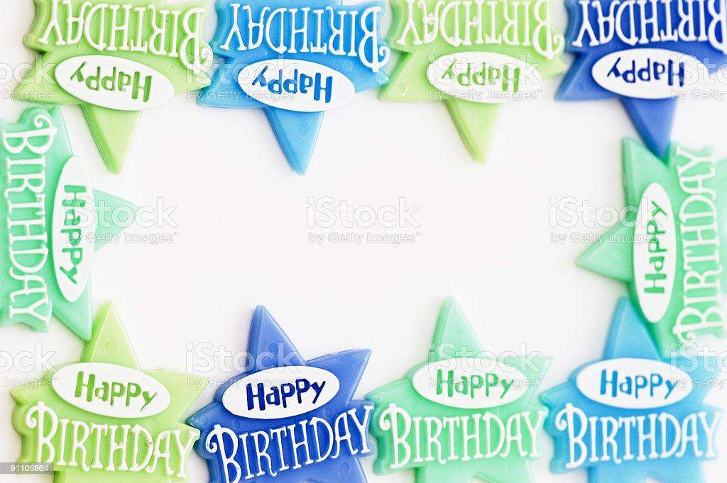 Happy Birthday  Frame royalty-free stock photo