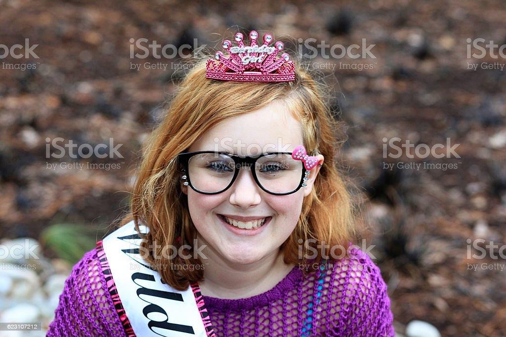 Happy birthday girl. stock photo