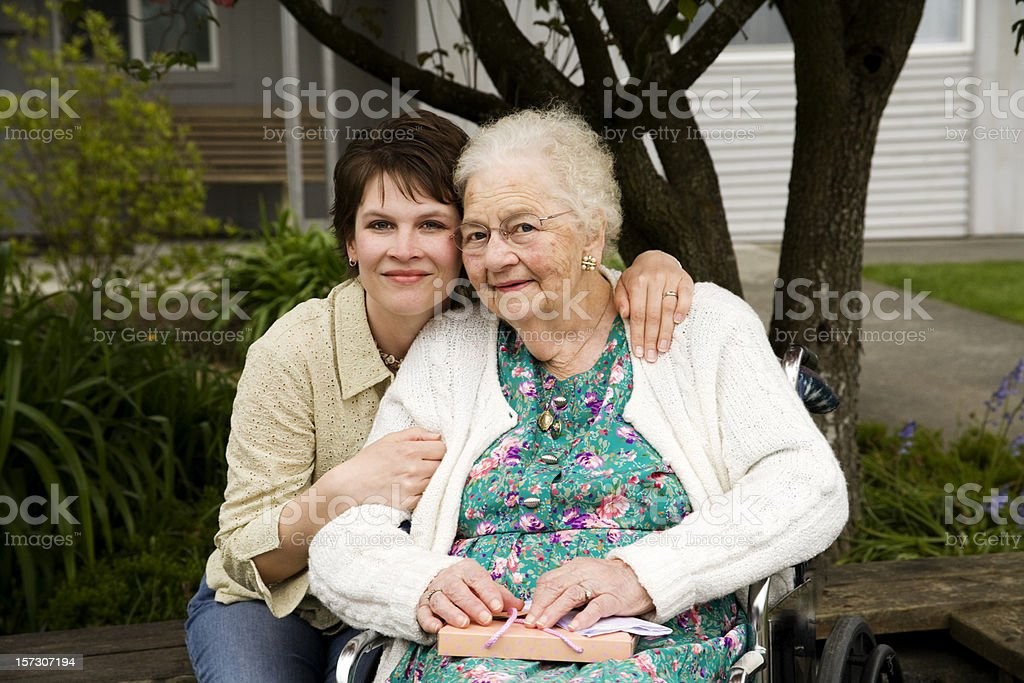 Happy Birthday Great Grand Mother 90 years!! royalty-free stock photo