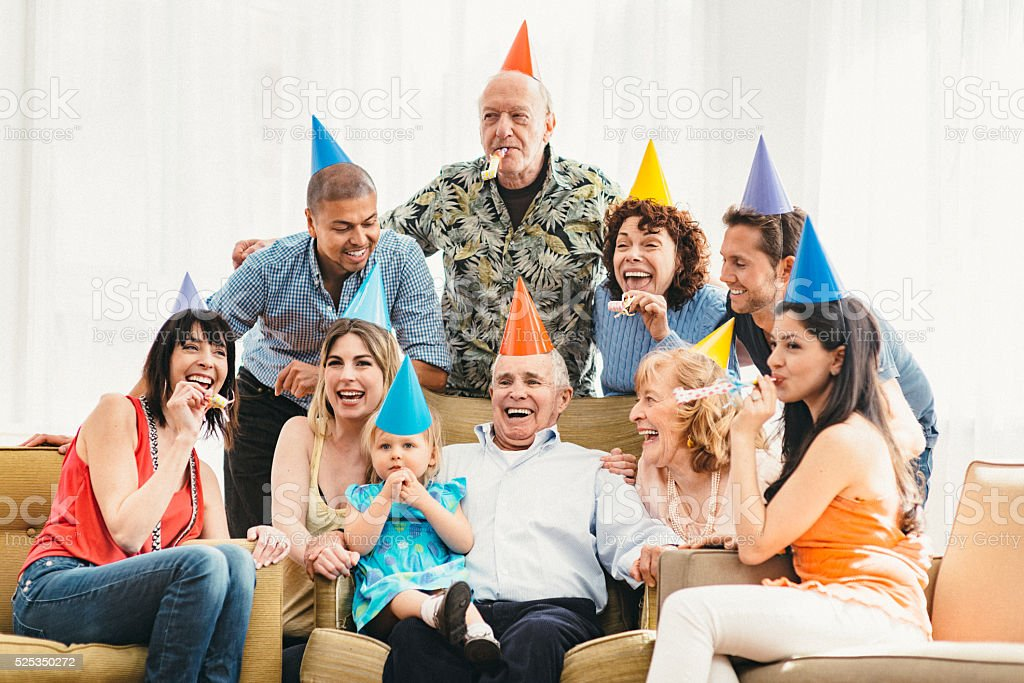 Happy Birthday Great Grandpa! stock photo