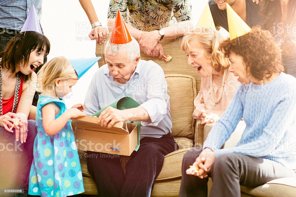 Happy Birthday Great Grandpa! stock photo