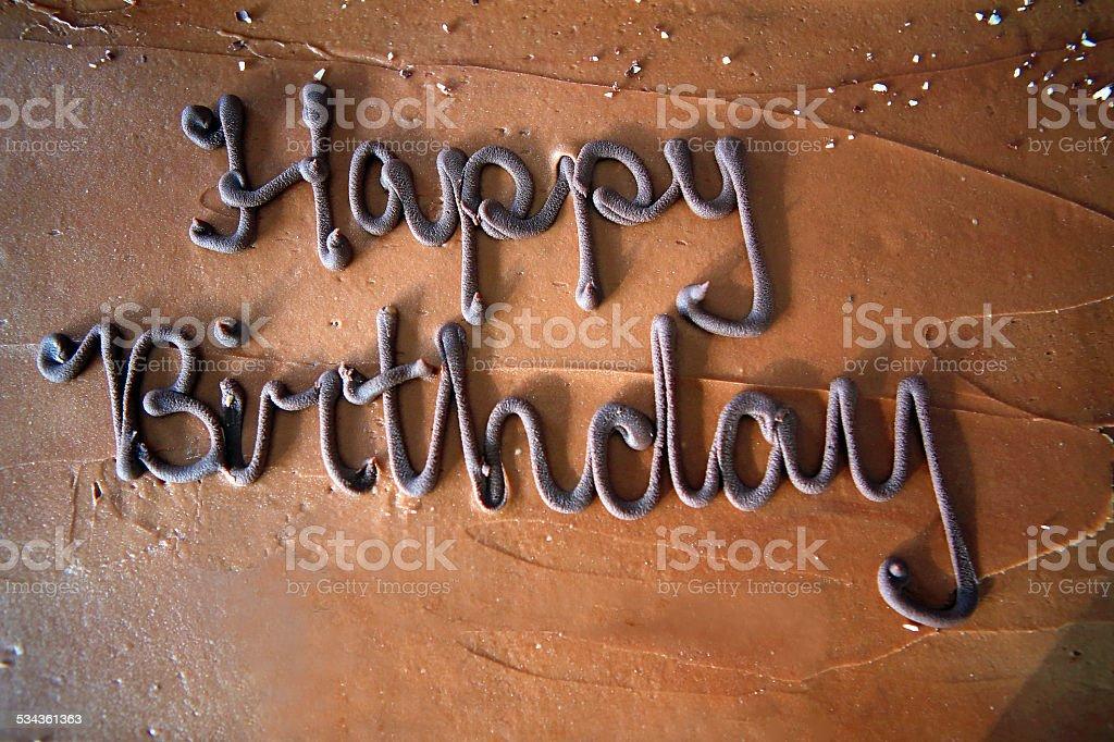 Happy Birthday Lettering stock photo