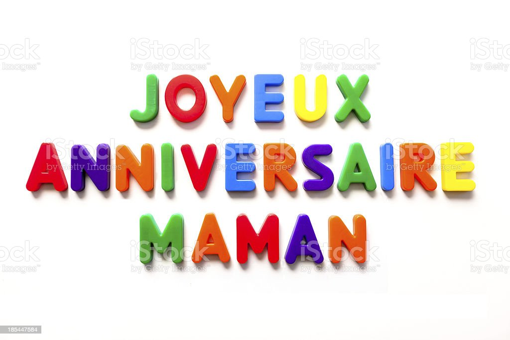 joyeux anniversaire maman royalty-free stock photo