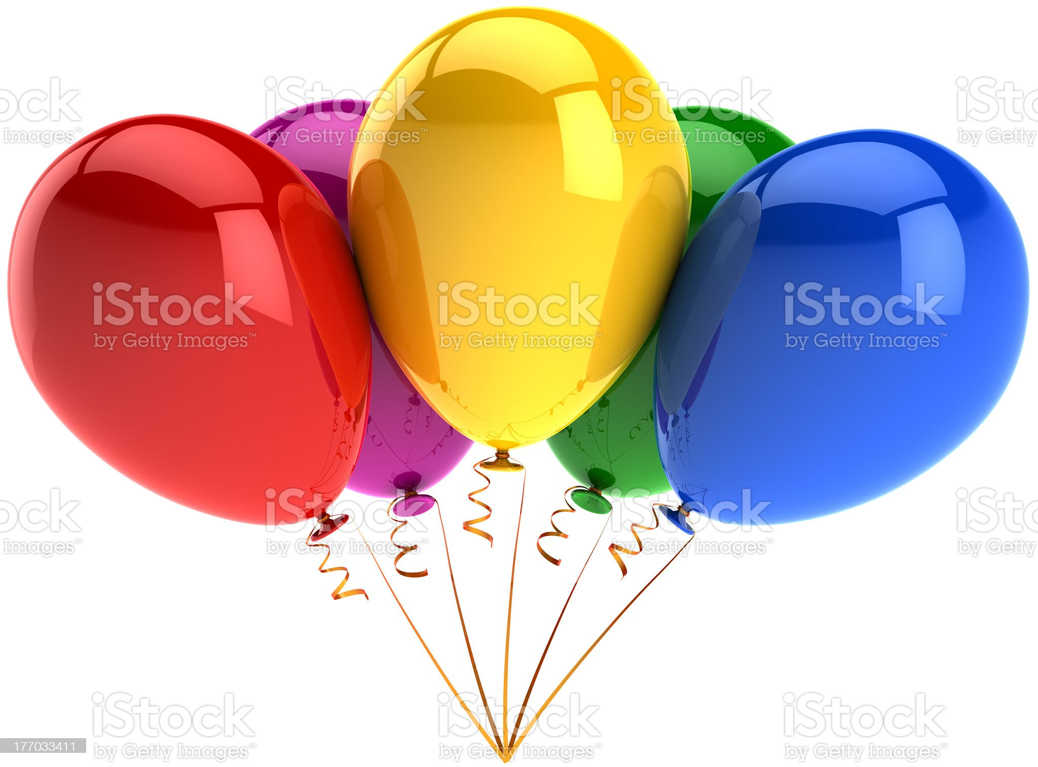 Happy birthday party balloons occasion decoration classic royalty-free stock photo