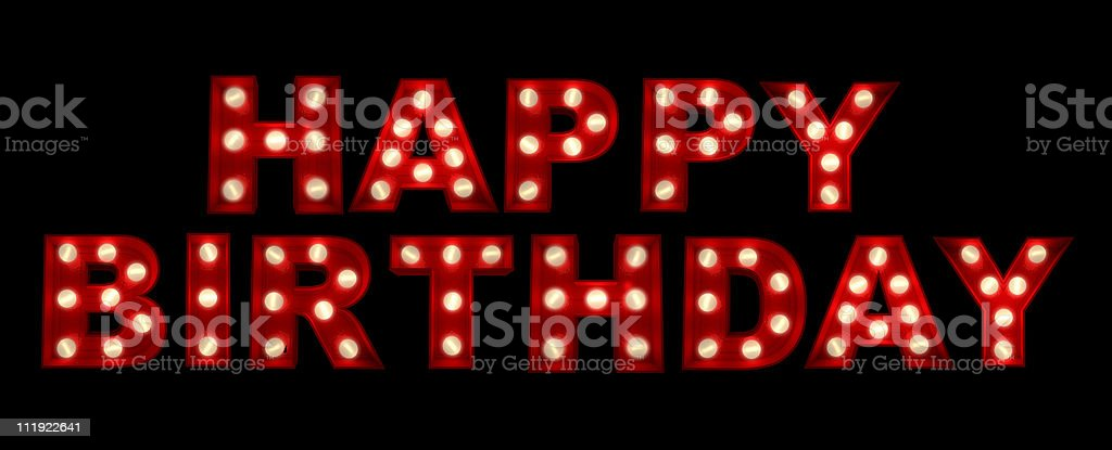 Happy Birthday sign stock photo