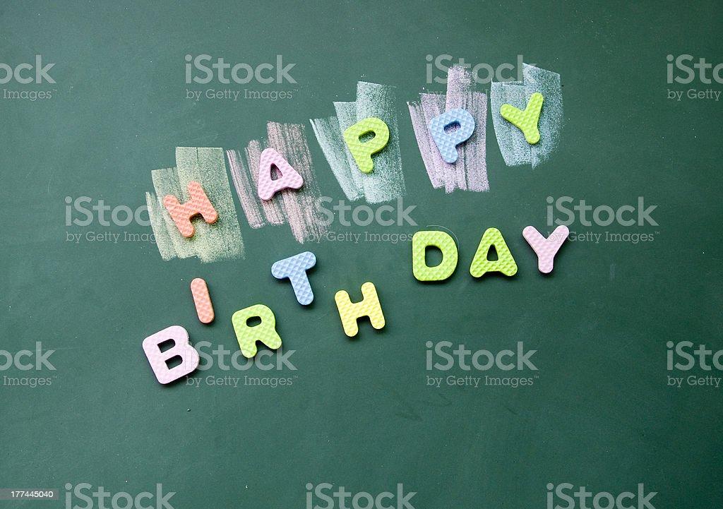 happy birthday sign royalty-free stock photo