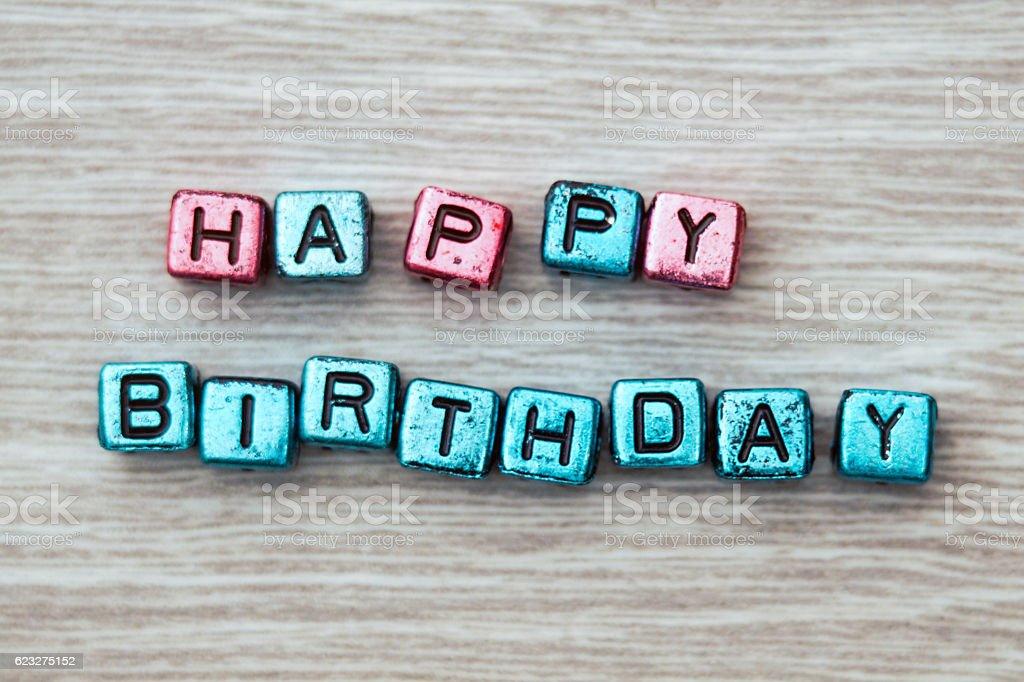 Happy birthday sign stock photo