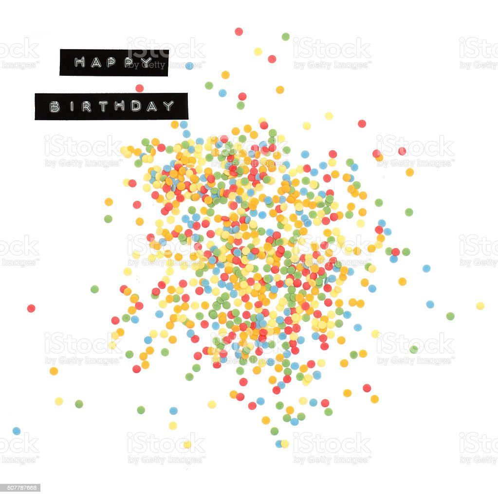 Happy Birthday Sprinkles stock photo