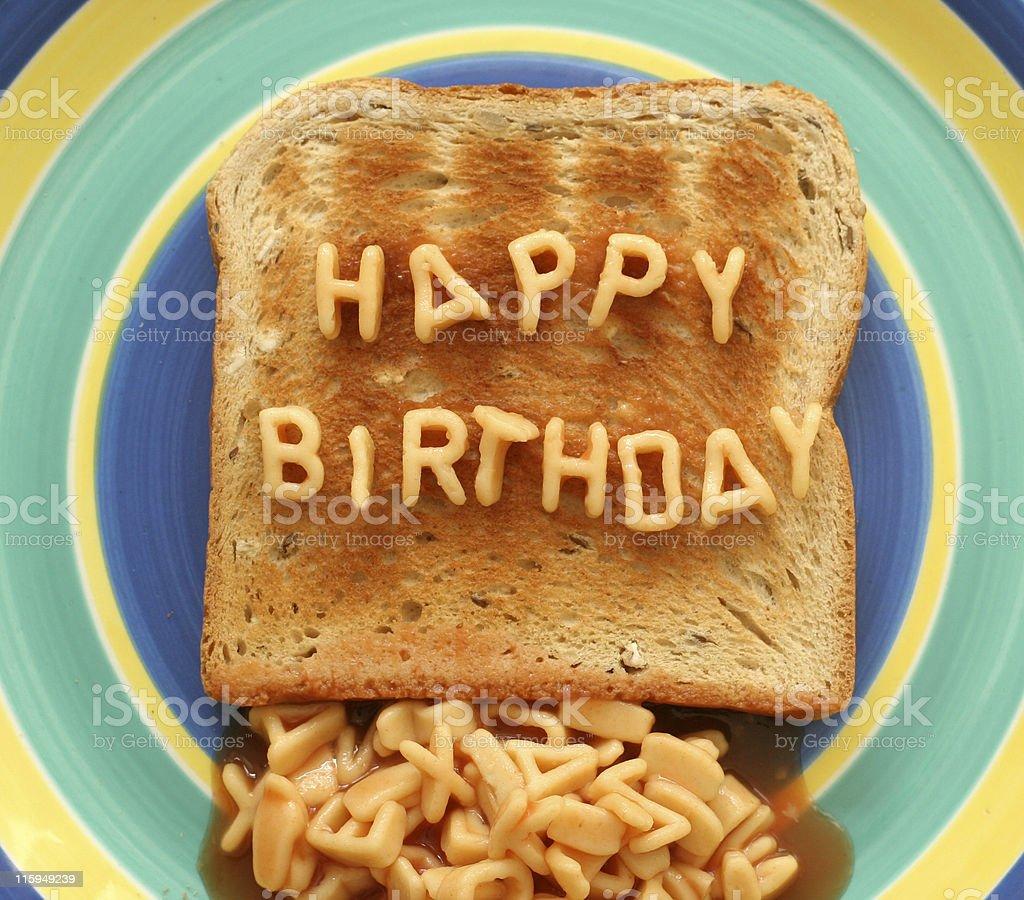 happy birthday toast royalty-free stock photo