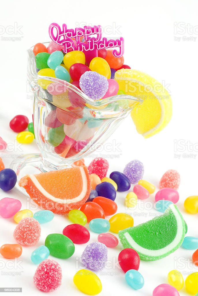 Happy Birthday with Assorted Candies royalty-free stock photo