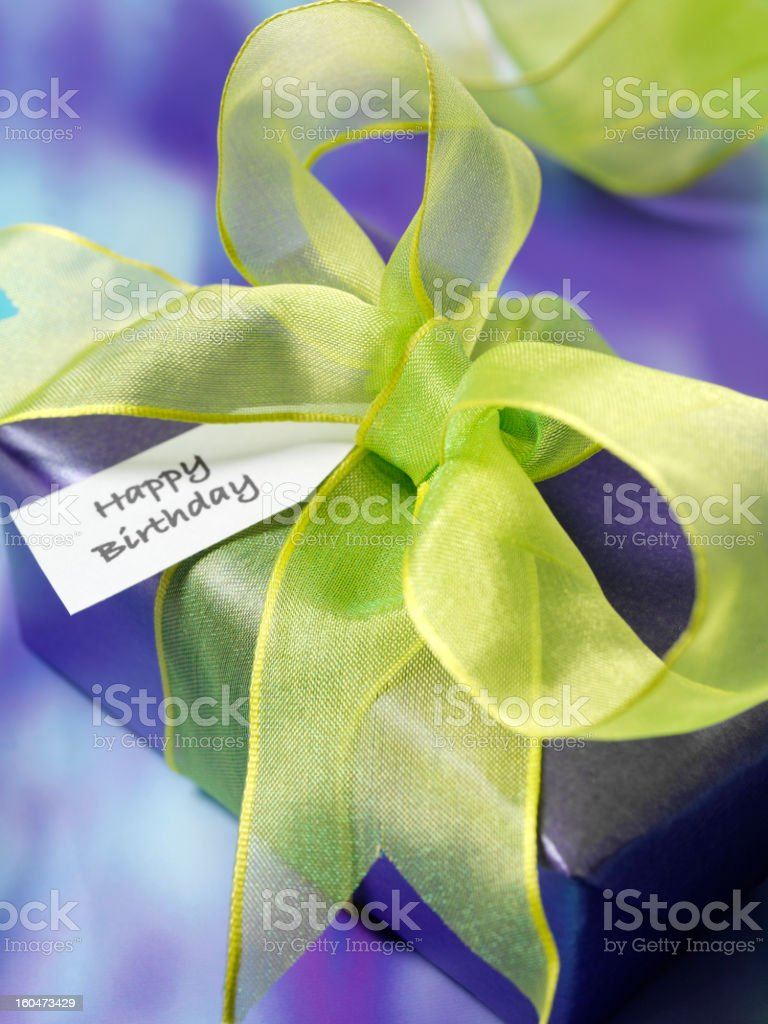 Happy Birthday Wrapped Up royalty-free stock photo
