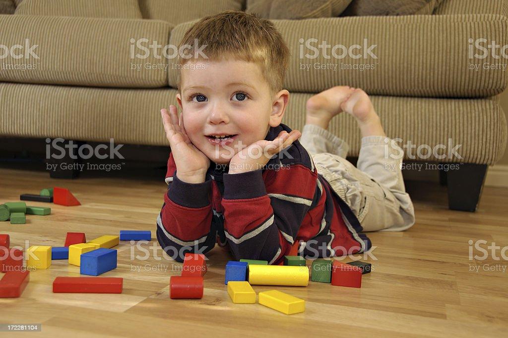 Happy Blocks royalty-free stock photo