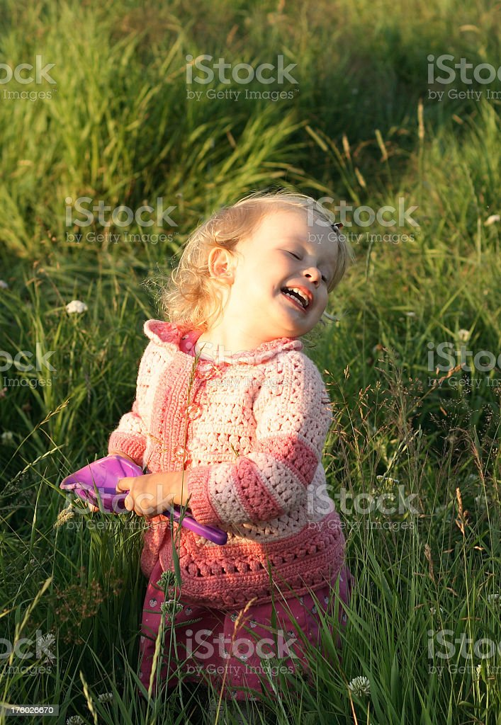 Happy blond small girl royalty-free stock photo