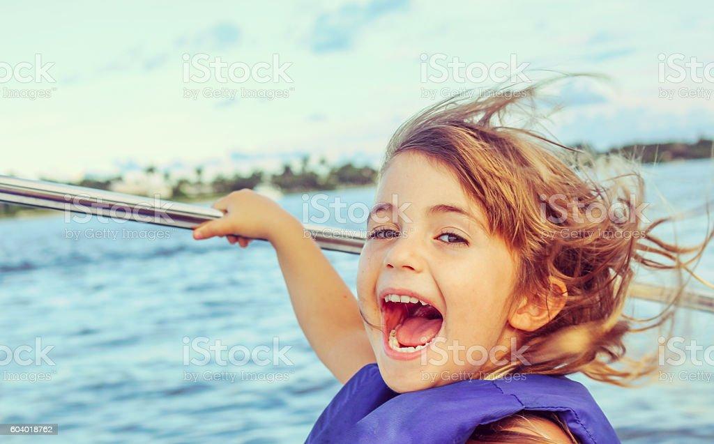 Happy Boater stock photo