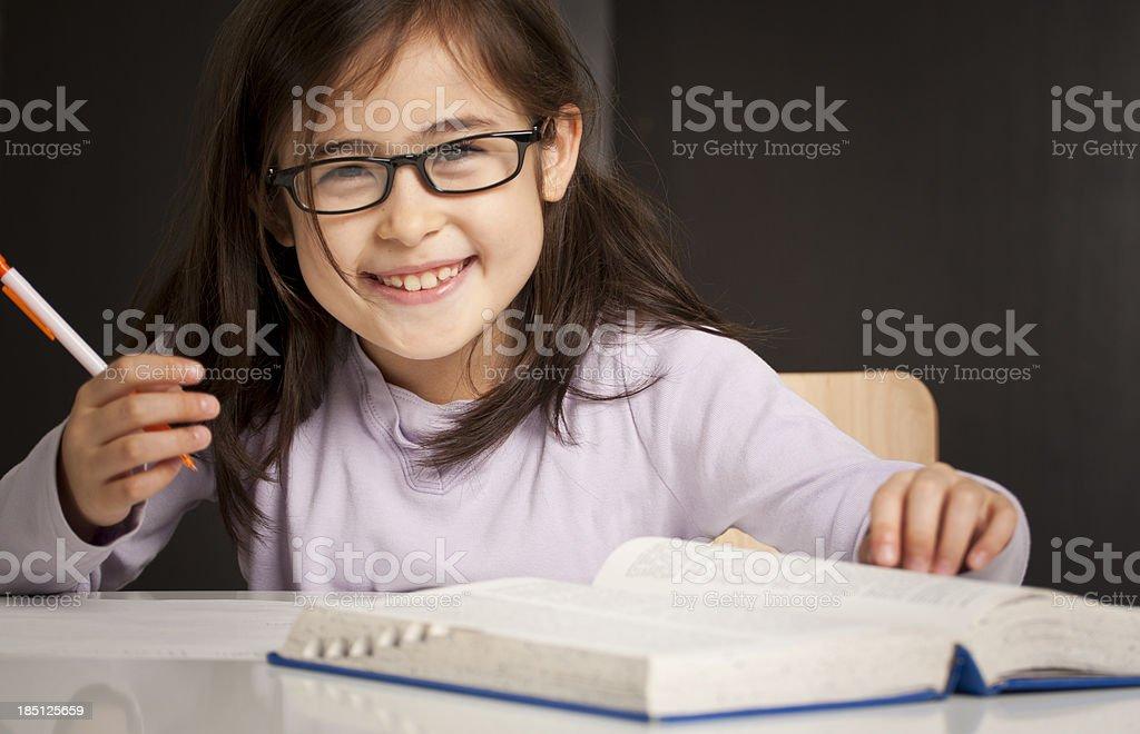 Happy Bookworm royalty-free stock photo