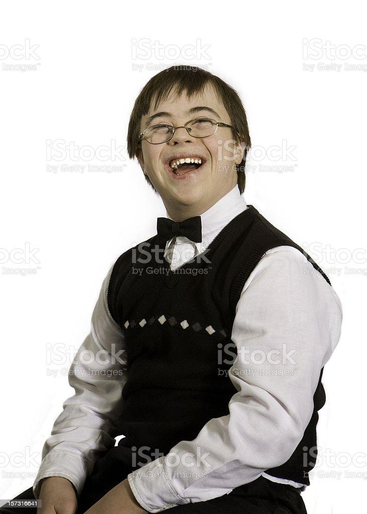 happy bow tie boy stock photo