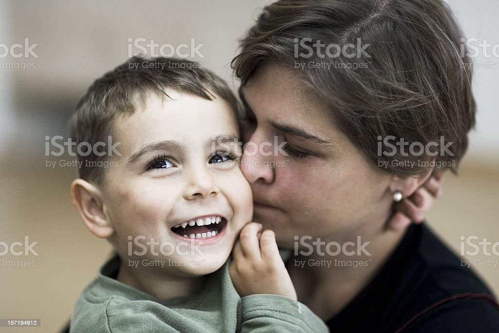 happy boy and mother royalty-free stock photo