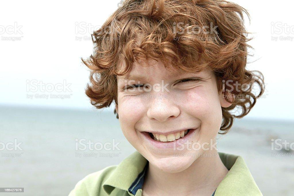 Happy Boy at the Beach royalty-free stock photo