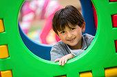 Happy boy at the playground