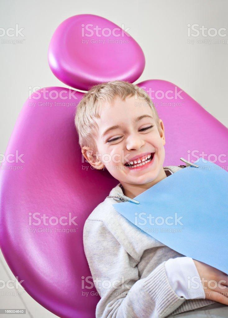 Happy Boy Dental Patient royalty-free stock photo