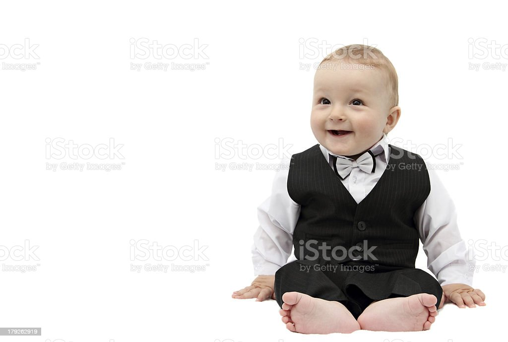 happy boy in suit royalty-free stock photo