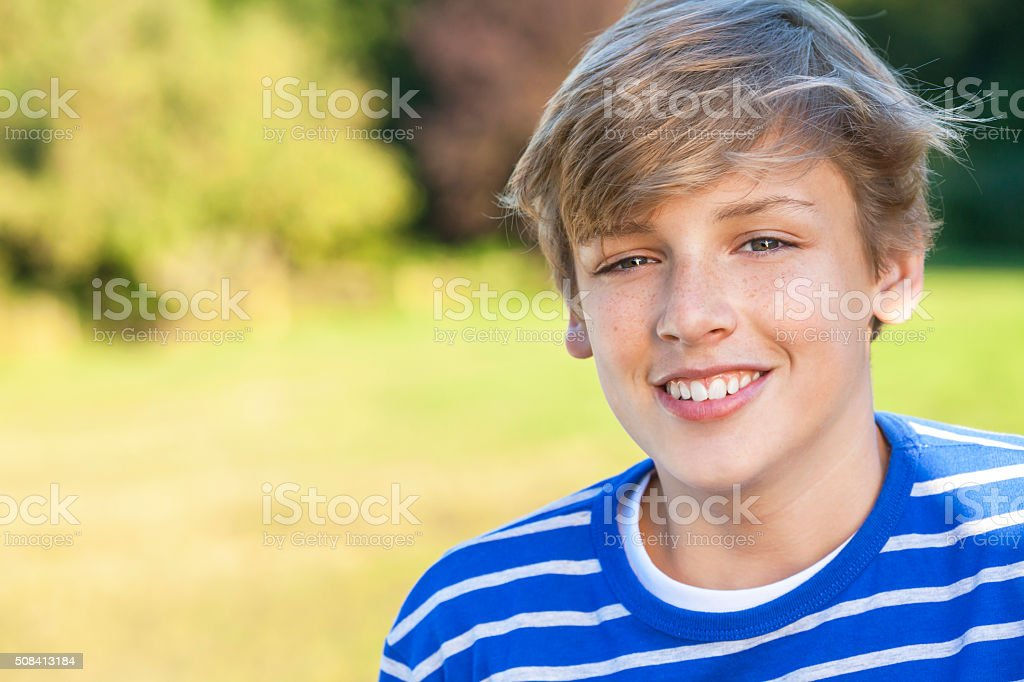 Happy Boy Male Child Teenager Smiling stock photo