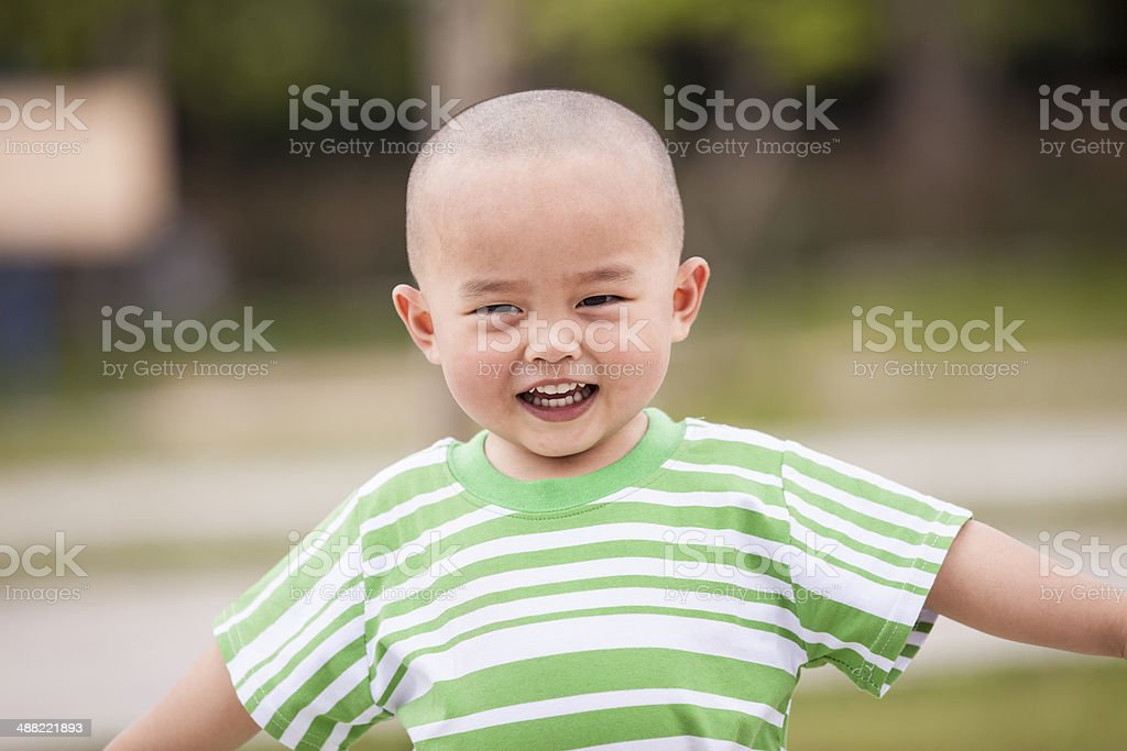 Happy boy outdoors royalty-free stock photo