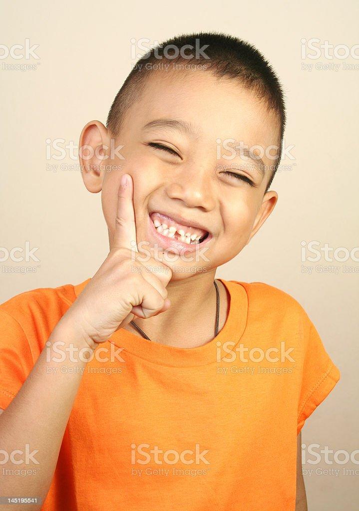 Happy boy (series) royalty-free stock photo