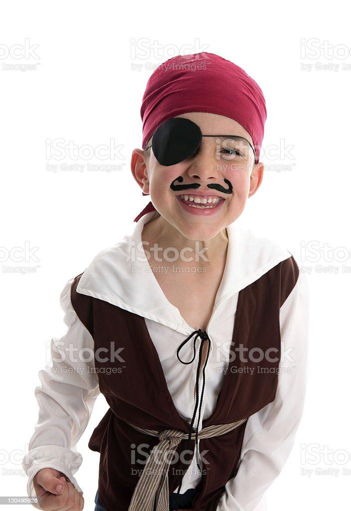Happy boy pirate costume royalty-free stock photo