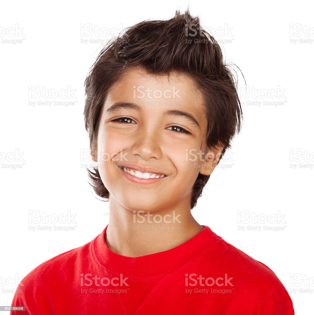 Happy boy portrait stock photo