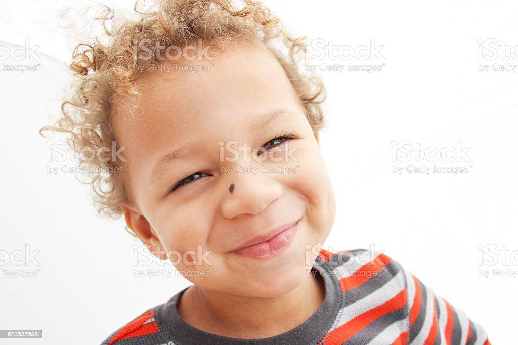 Happy Boy Smiling stock photo