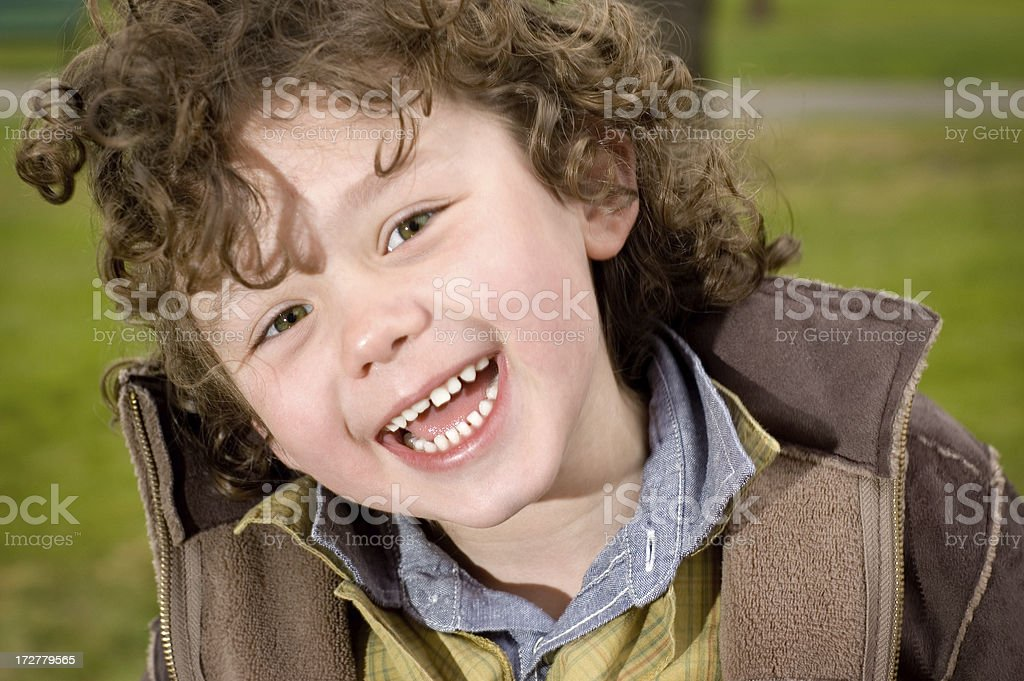 Happy Boy with Big Smile royalty-free stock photo