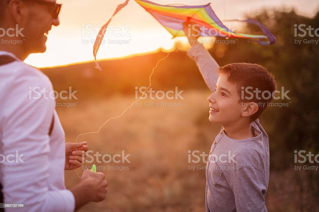 Happy boys stock photo