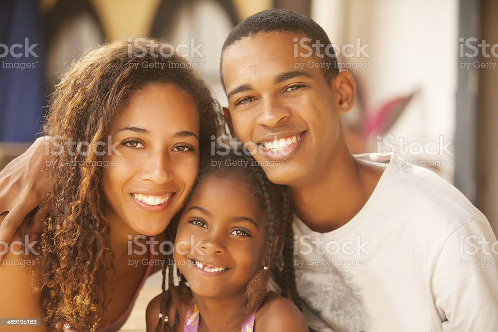 Happy Brazilian Family stock photo