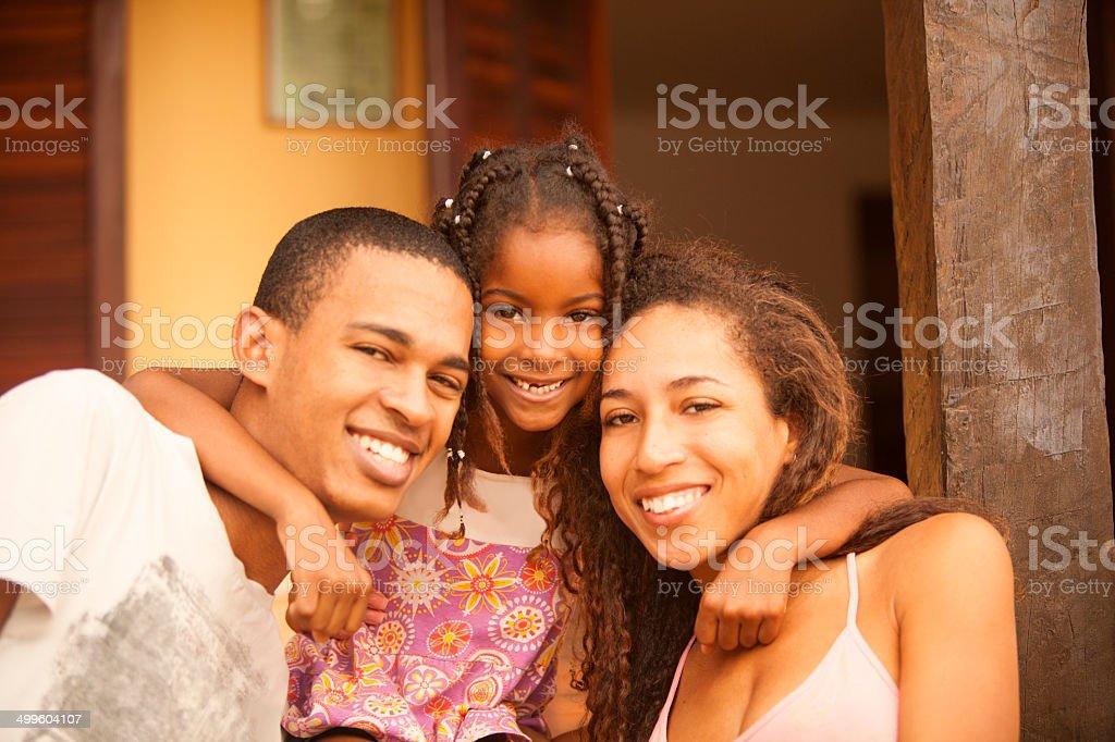 Happy Brazilian Family stock photo