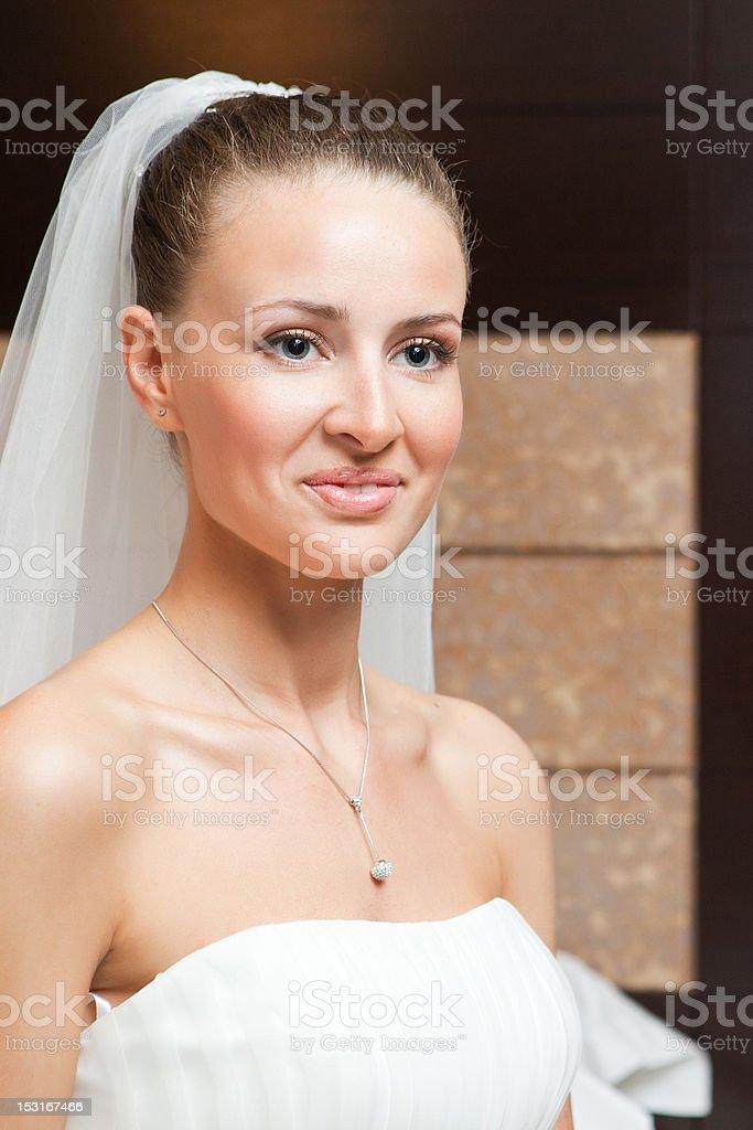 Heureux mariée photo libre de droits