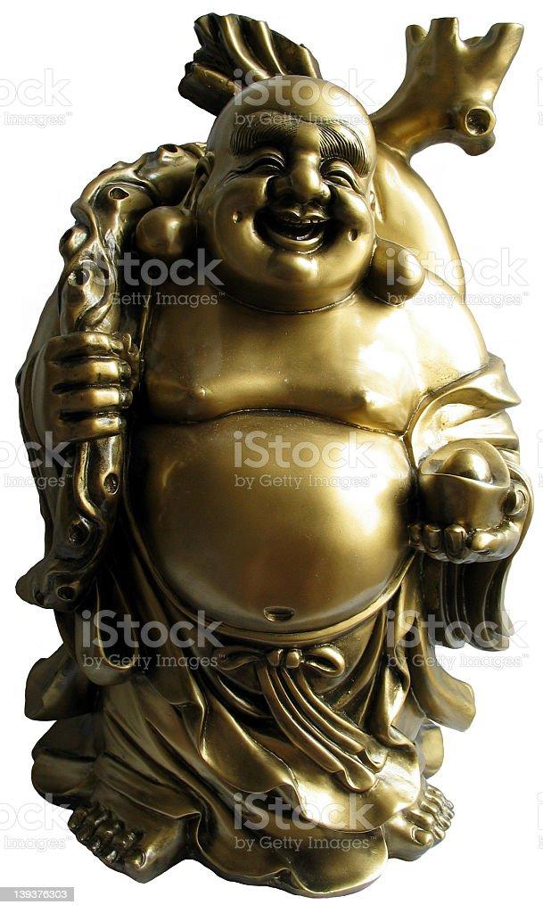 Happy Bronze Buddha royalty-free stock photo