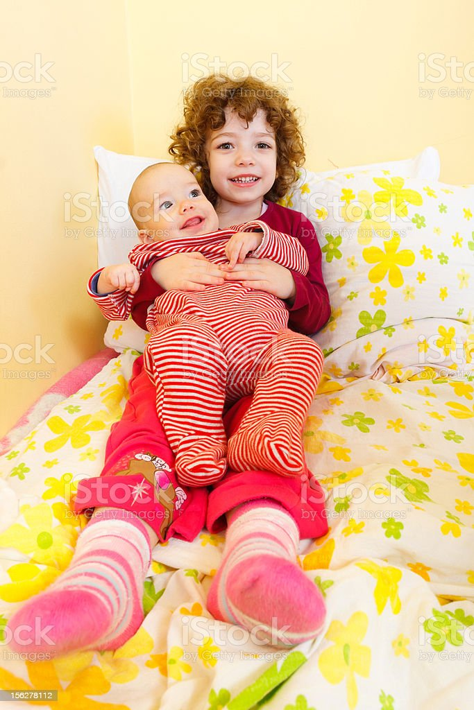 Happy brother and sister royalty-free stock photo
