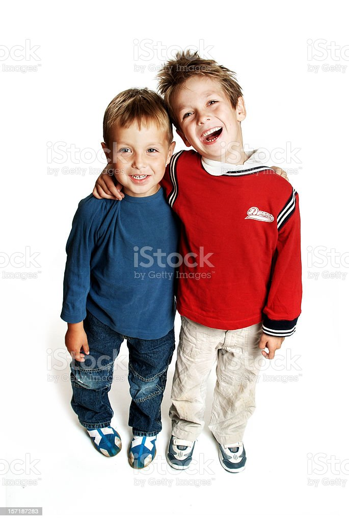 Happy Brothers stock photo