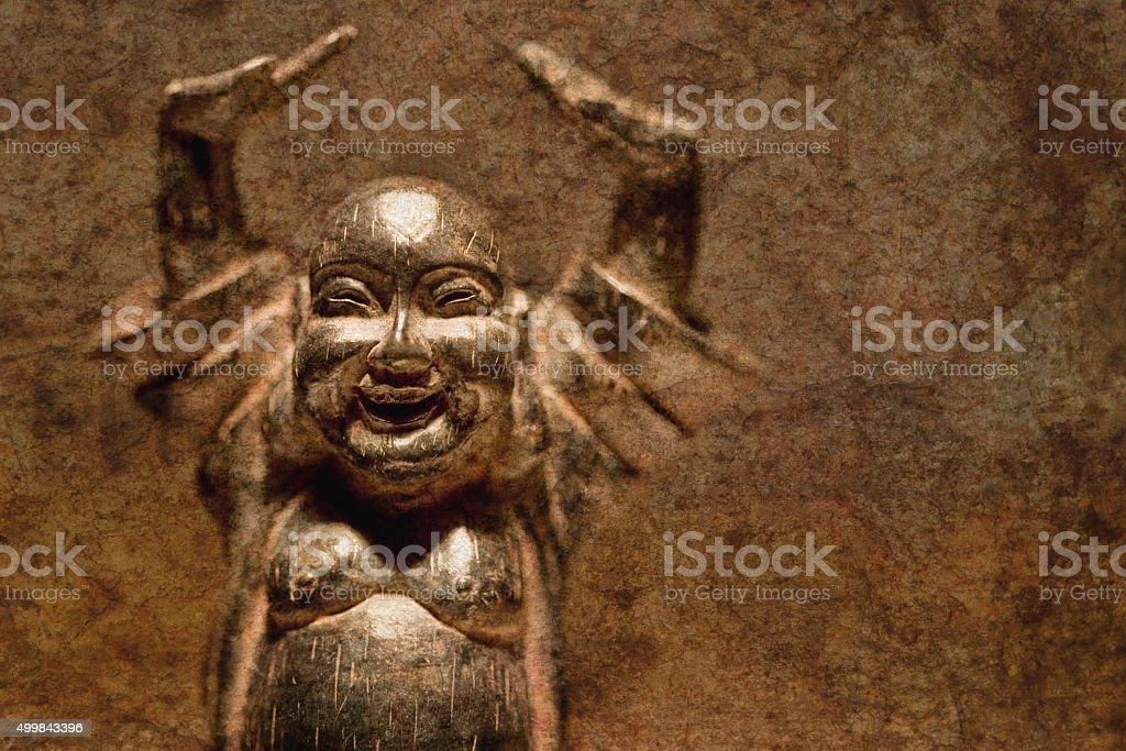 Happy Buddha stock photo