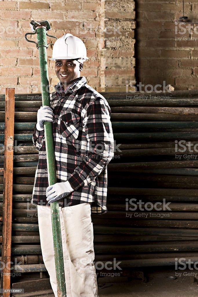 Happy builder royalty-free stock photo