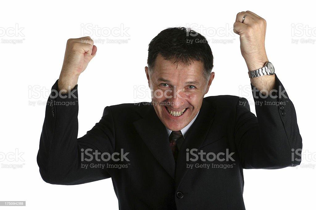 Happy buisness man stock photo