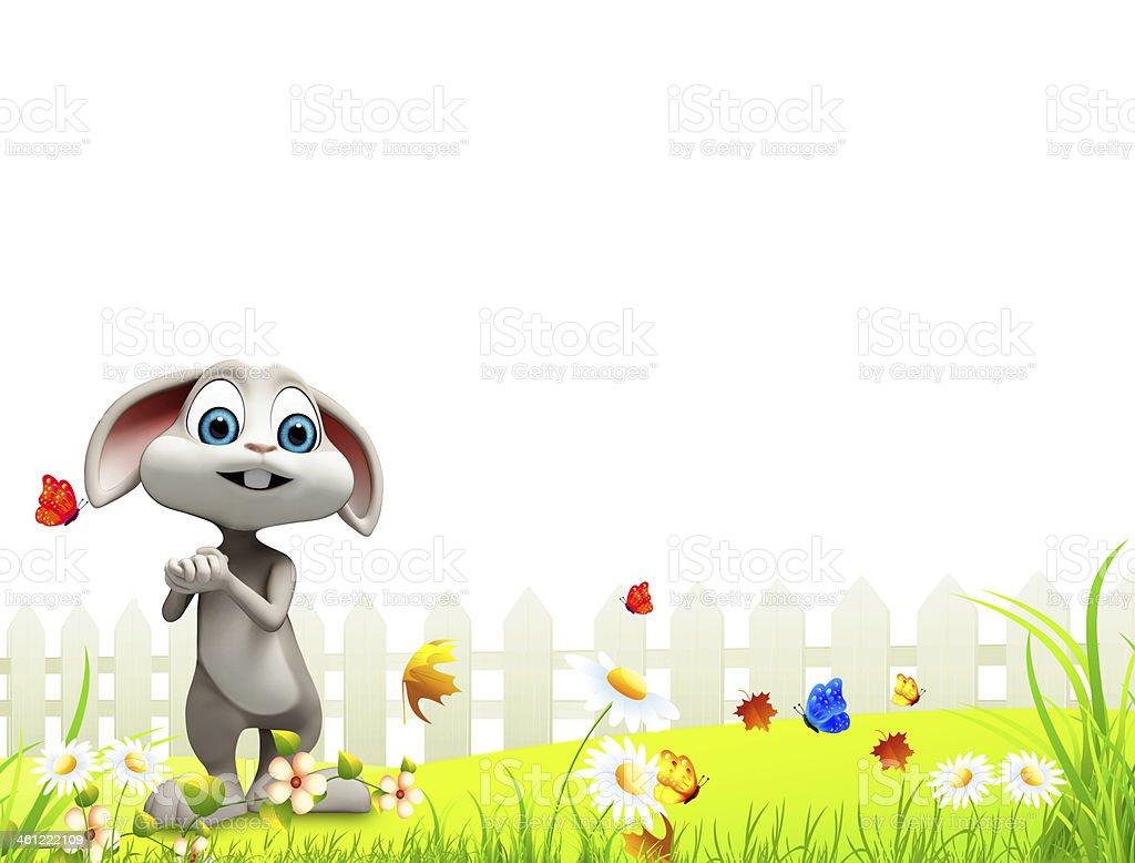 happy bunny royalty-free stock photo