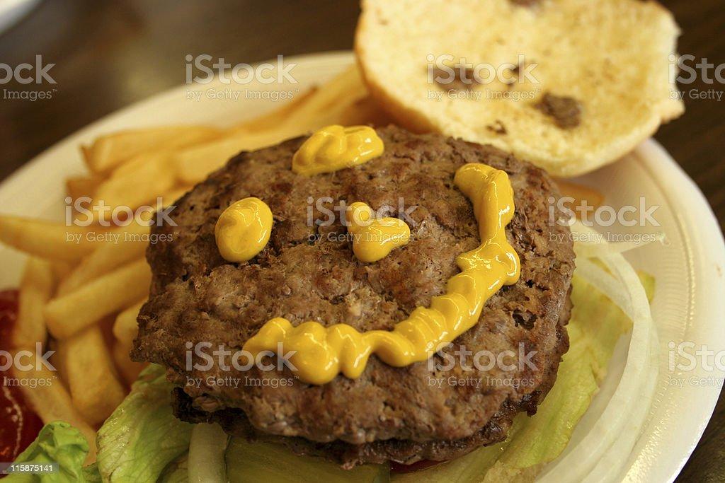 Happy Burger royalty-free stock photo