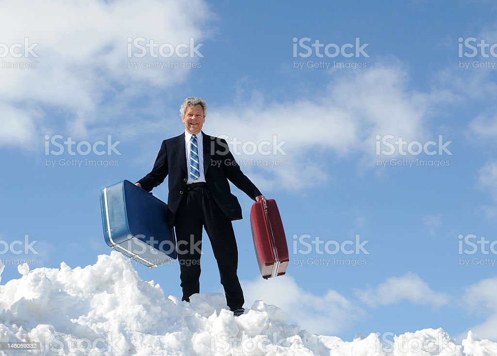 Happy businesman - Just Arrived royalty-free stock photo