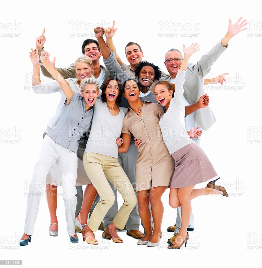 Happy business colleagues having fun royalty-free stock photo